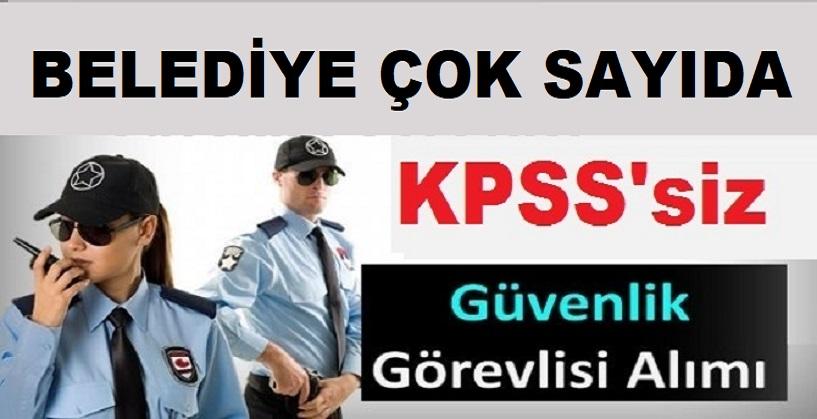 İstanbul, Aydın ve Konya'daki bazı belediyelere güvenlik ve büro memuru alımı