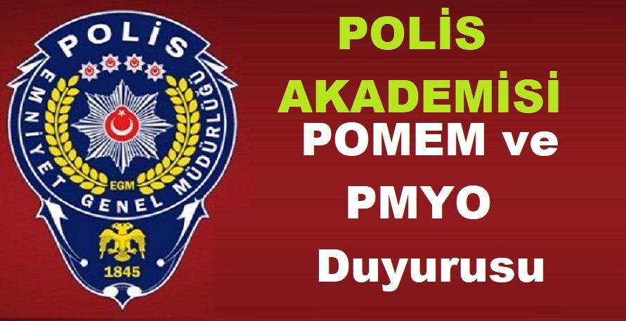 Polis Akademisinden POMEM ve PMYO Duyurusu 2019