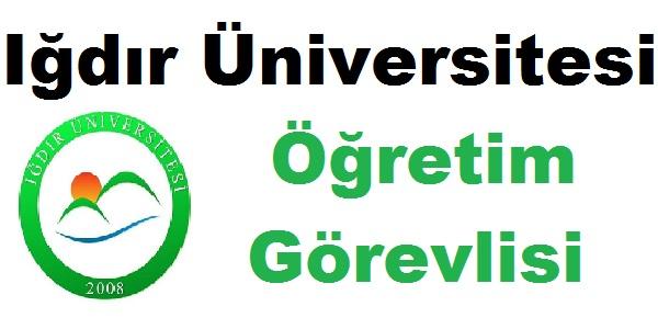 Iğdır Üniversitesi Öğretim Görevlisi Alıyor 2 Ekim 2018