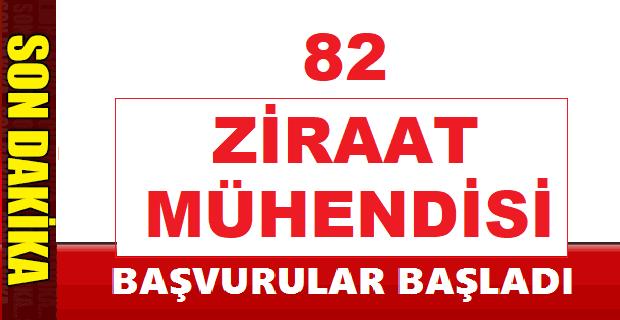 Ziraat Mühendisi 82 personel alımı - iŞKUR İŞ İLANLARI 2019