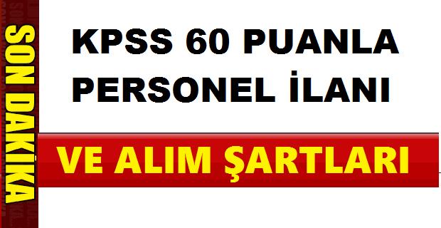 KPSS 65 Puanla Kamu Personeli Alıyor
