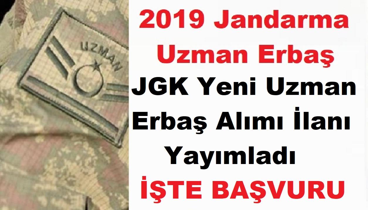 2019 JGK Uzman Erbaş Alımı İlanı Yayımladı!