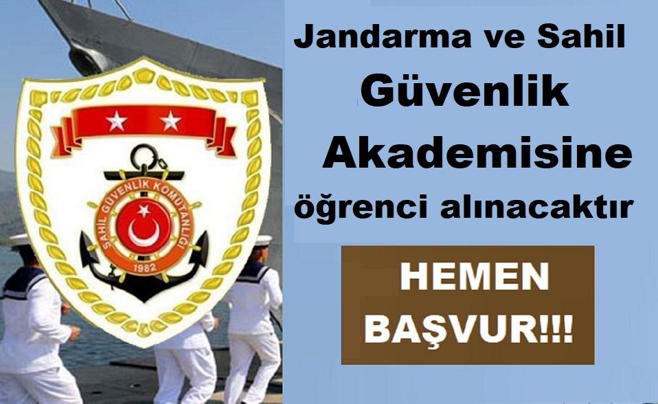 Jandarma ve Sahil Güvenlik Akademisi Güvenlik Bilimleri Öğrenci Alımı 2019
