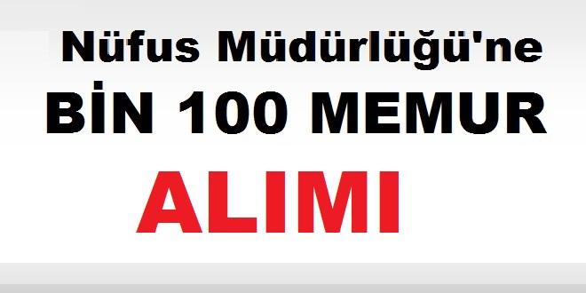 NVİ Nüfus Vatandaşlık İşleri 1100 memur alımı Yapacak
