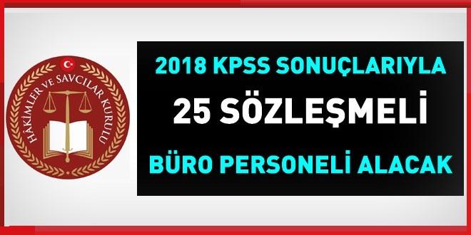 2018 KPSS İLE 25 Sözleşmeli Büro Memuru Alınıyor