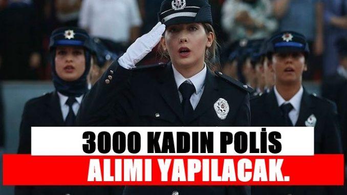 3000 Kadın Özel Harekat Polisi Alınacak