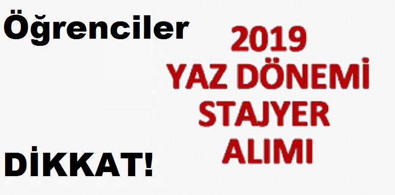 2019 stajyer alımı ilanları