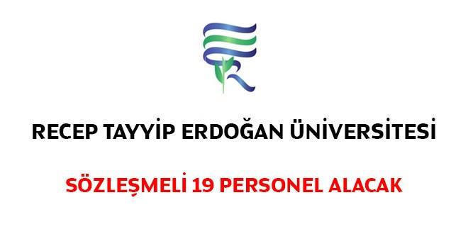 Recep Tayyip Erdoğan Üniversitesi hemşire ve tekniker iş ilanları 2019