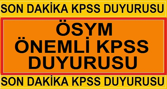 2019 KPSS Sınav Giriş Belgelerini Yayınladı