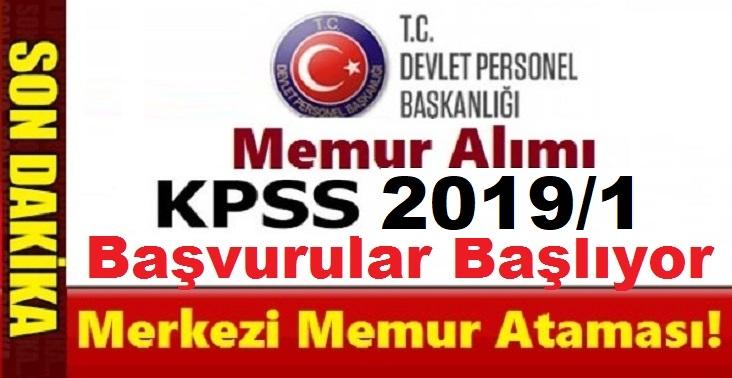 2019 yılı 1. ÖSYM KPSS merkezi atama tercihleri Temmuz ayında