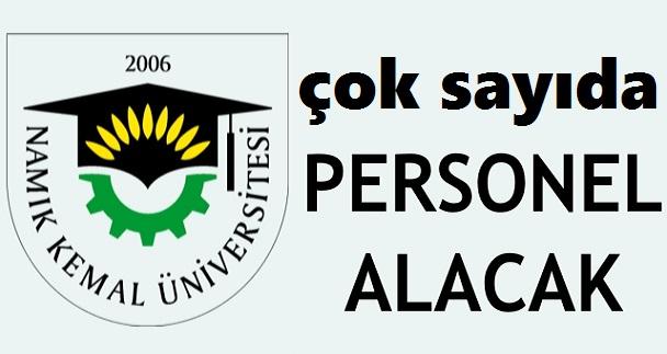 Namık Kemal Üniversitesi Lise Önlisans Lisans 97 Kamu Personel Alımı