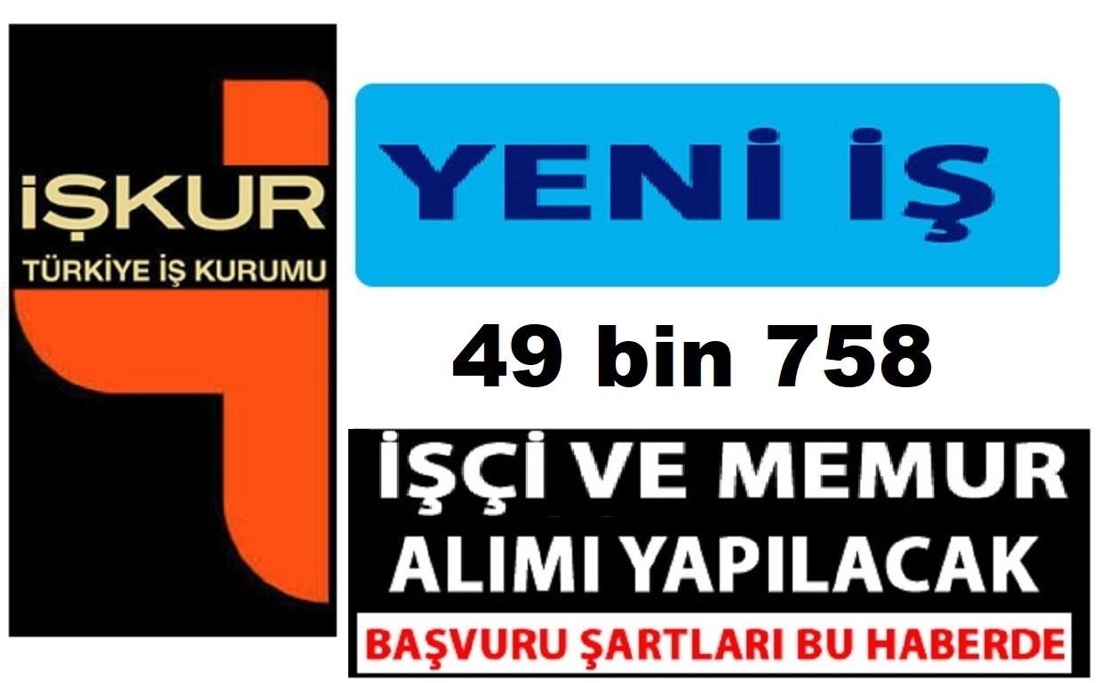 49bin 758 İŞKUR iş ilanları 2019