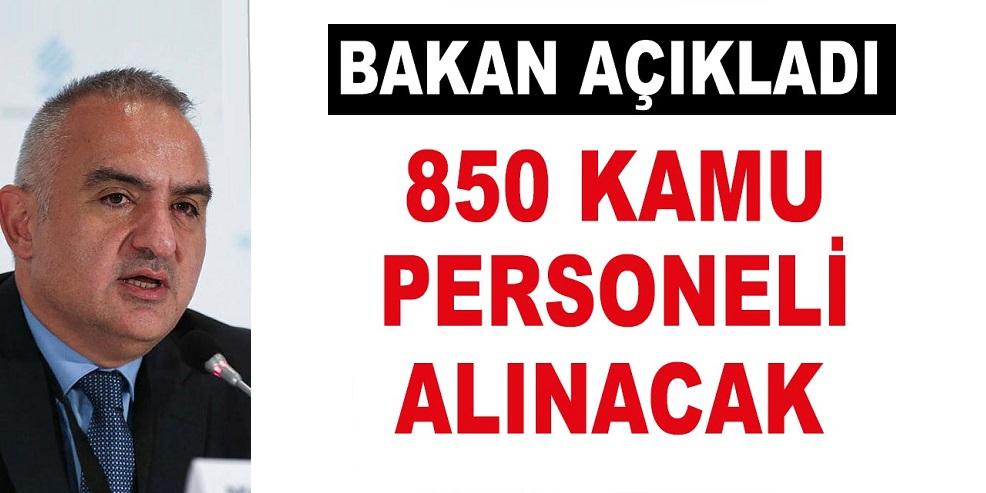 Kültür ve Turizm Bakanlığı 850 Kamu Personeli Alınacak