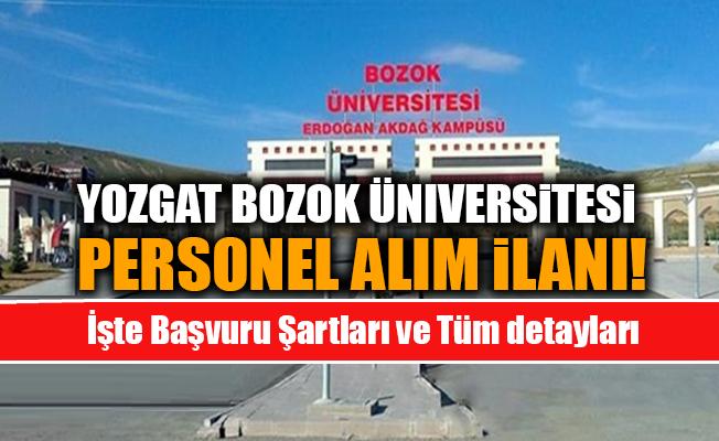 Yozgat Bozok Üniversitesi Akademik Personel Alım İlanı 2019