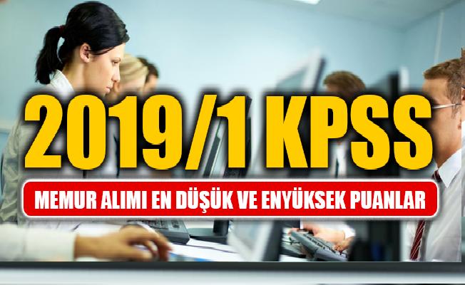 KPSS 2019/1 Memur Alımı Tercih Sonuçları En Düşük ve En Yüksek Puanlar