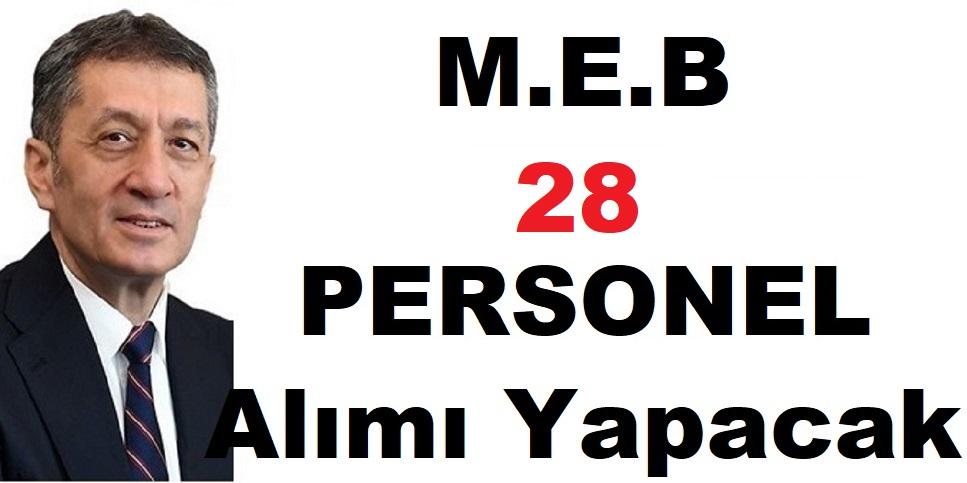 Millî Eğitim Bakanlığı (MEB) 657'ye tabi 28 Devlet Memuru Alıyor