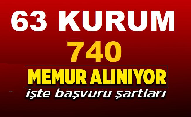 Belediyeler ve kamu kurumları KPSS'li ve KPSS'siz 740 memur-işçi ve nitelikli personel alımı yapıyor