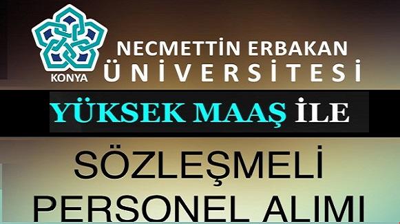 Konya Erbakan Üniversitesi 121 Kişiyi işe Alacaktır