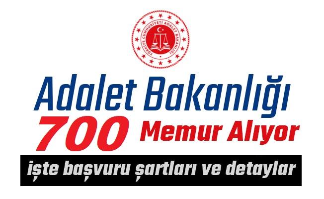 Adalet Bakanlığı 700 Devlet Memuru Alım ilanı yayınladı