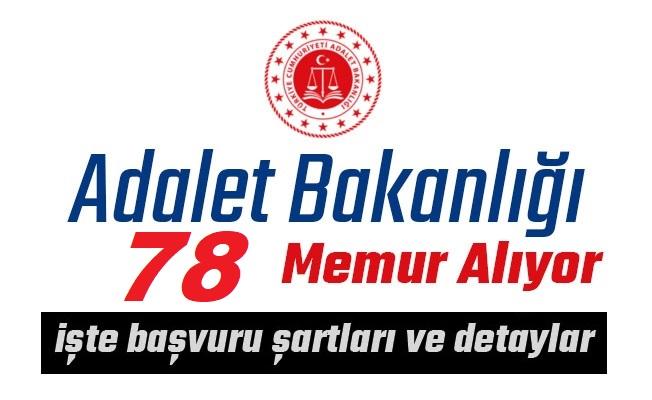 Adalet Bakanlığı Personel Alım ilanı 78 kişi