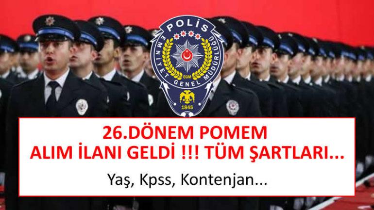 2020 Polis Alımları - POMEM 26. Dönem Polis Alım Duyurusu