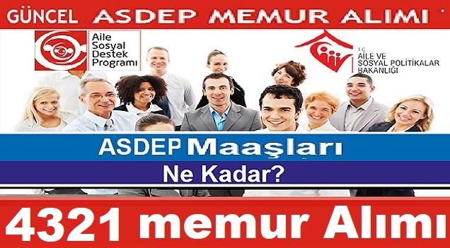 Aile Bakanlığı 4321 Personel ASDEP Alacak