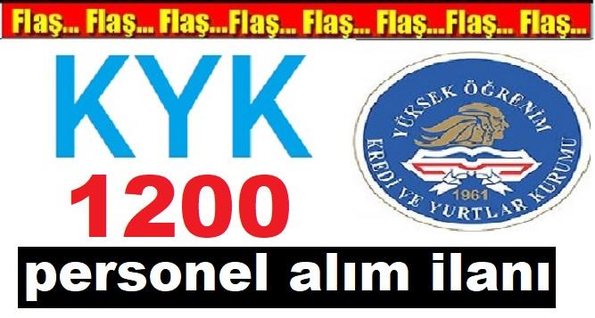 Kredi ve Yurtlar Kurumu KYK 1200 personel alım ilanı ne zaman?