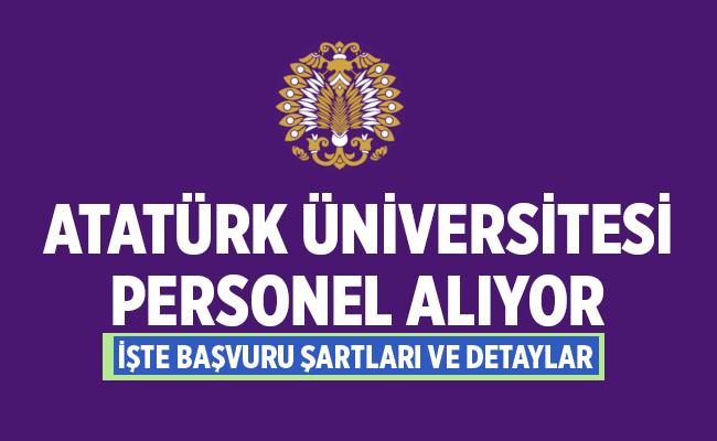 Atatürk Üniversitesi 2020 Akademik Personel Alımları