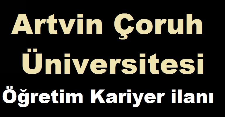 Artvin Çoruh Üniversitesi Öğretim Üyesi ALIYOR