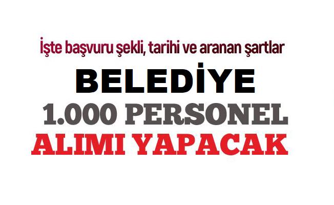 İstanbul Belediye Başkanlığı 1000 personel alımı yapacaktır