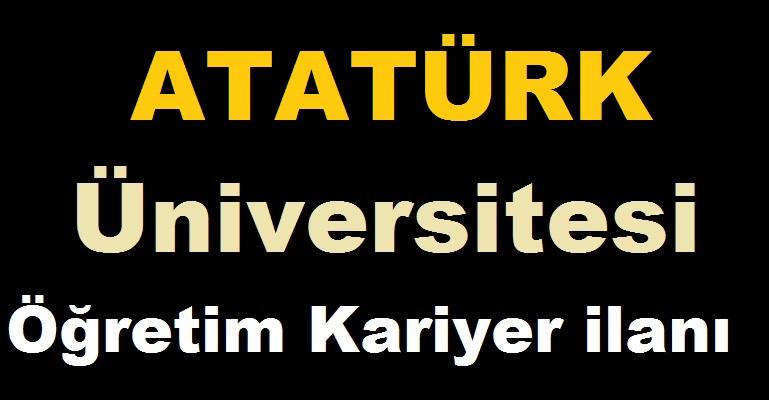Atatürk Üniversitesi Rektörlüğü 84 Akademik Personel iş ilanı