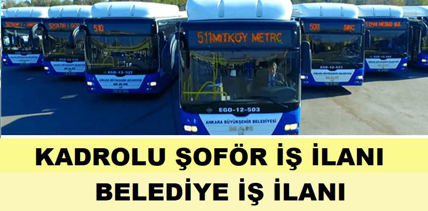 Otobüs şoför alımı yapılması için iş ilanı yayınlandı.