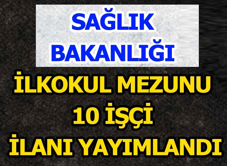 Türkiye Hudut ve Sahiller Sağlık Genel Müdürlüğü Personel alımları 2020