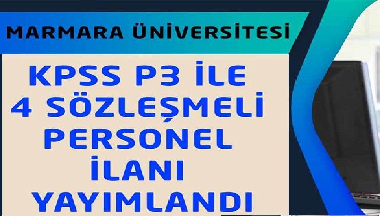 Marmara Üniversitesi Personel Alımları 2020