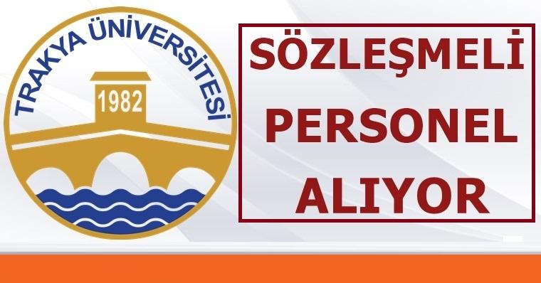 Tekirdağ Üniversitesi 280 personel alıyor işte kadrolar