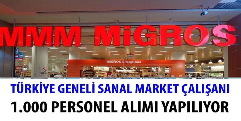 Migros market zinciri 2021 Yılı Personel Alımları