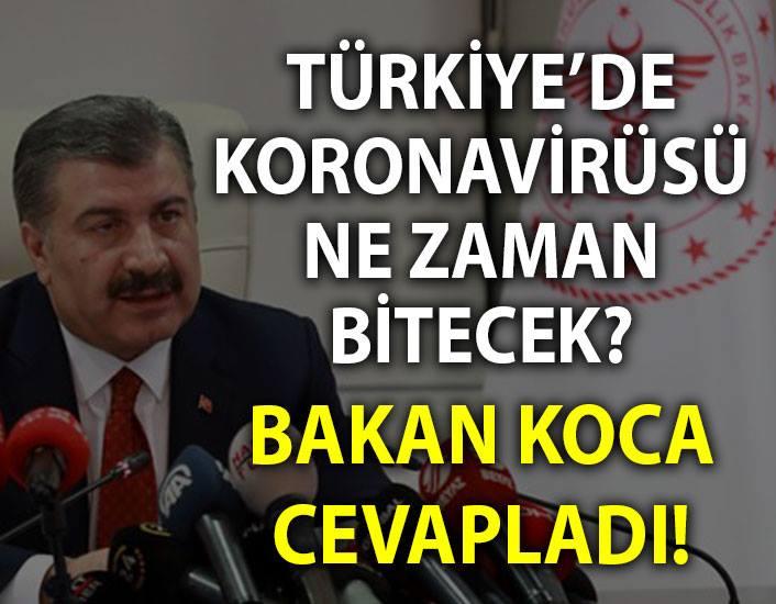 Türkiye'de koronavirüsü ne kadar sürecek?