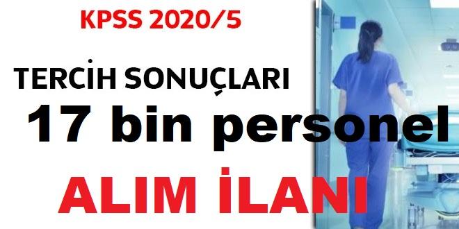 17 BİN MEMUR ALIMI KPSS 2020/5 tercih sonuçları açıklandı