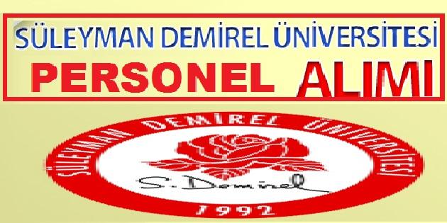 Demirel Üniversitesi 4/D daimi sürekli 5 personel alacak