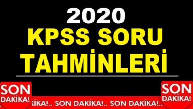 2020 KPSS TARİH GÜNCEL BİLGİLER