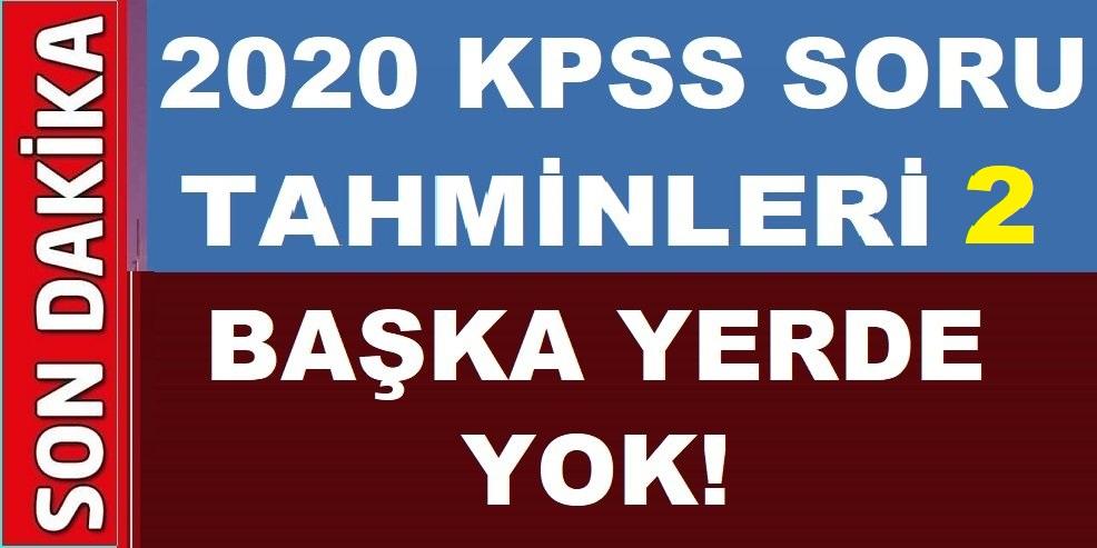 KPSS 2020 Soru Tahminleri 2