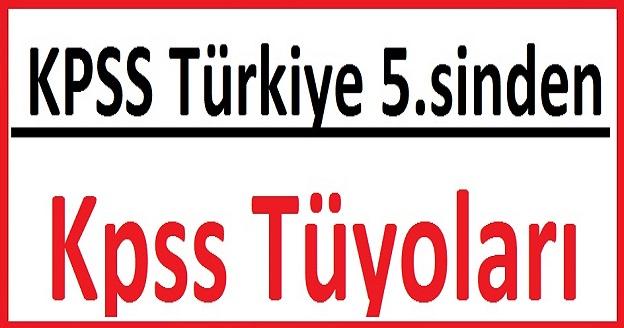 KPSS Türkiye 5. sinden KPSS Tüyoları