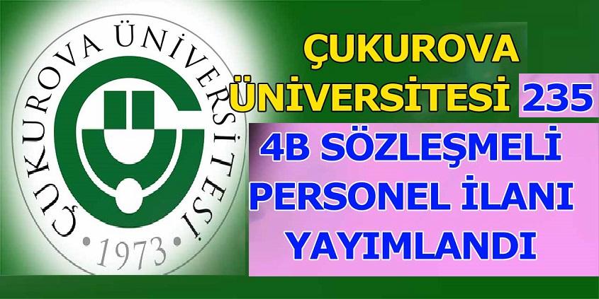 Adana Üniversitesi KPSS B puanıyla 235 Personel Alacaktır