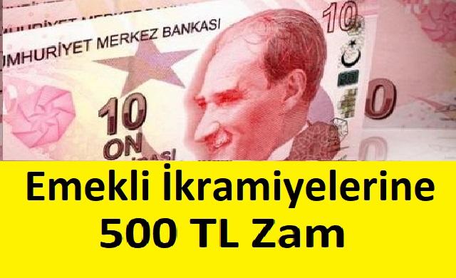 Emekli İkramiyelerine 500 TL Zam
