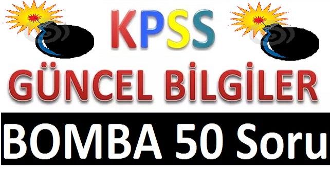 Temmuz 2020 KPSS Güncel Bilgiler 44 Bomba Soru