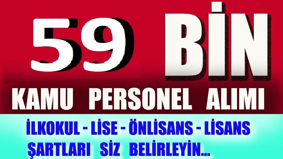 59 bin erkek kadın vasıflı vasıfsız KPSS'li KPSS'siz kamu ve özel kurumlara personel alımı