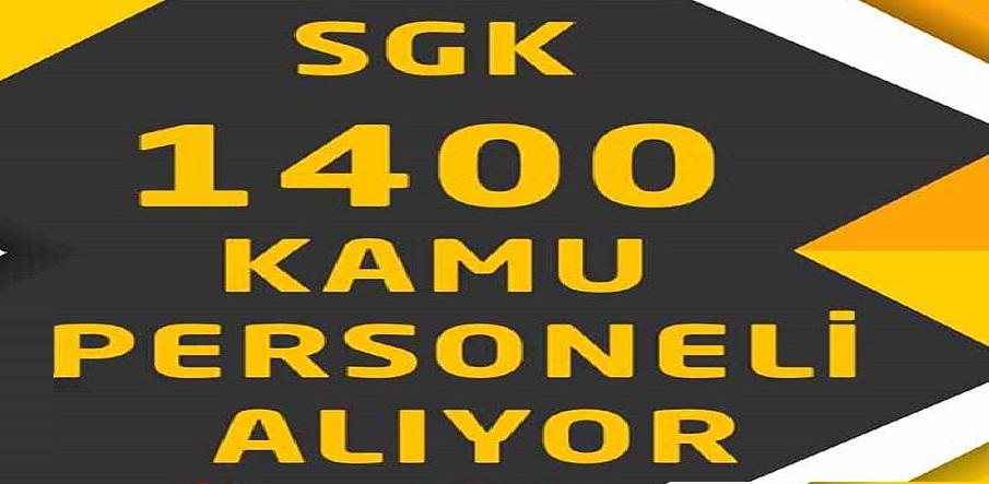 SGK Sosyal Güvenlik Kurumu KPSS ile 1400 Devlet Memuru Alımı Yapacaktır