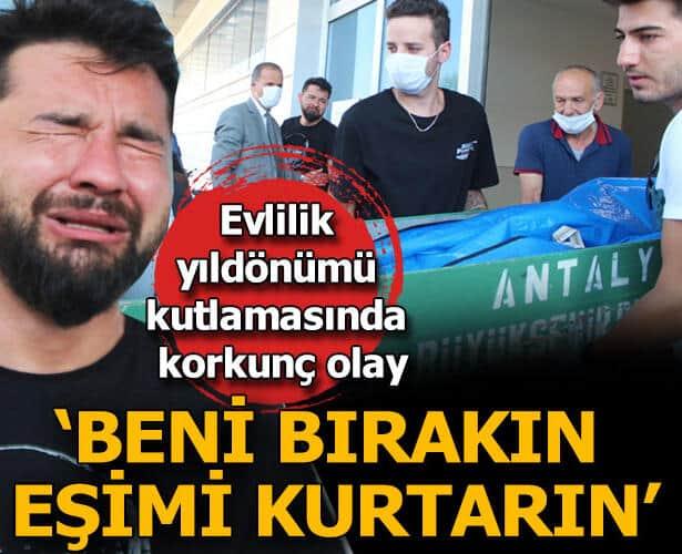 Antalya'da tatilde feci son