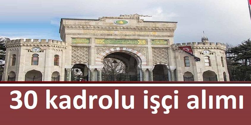 İstanbul Cerrahpaşa Hastanesi 30 Kadrolu işçi Alıyor
