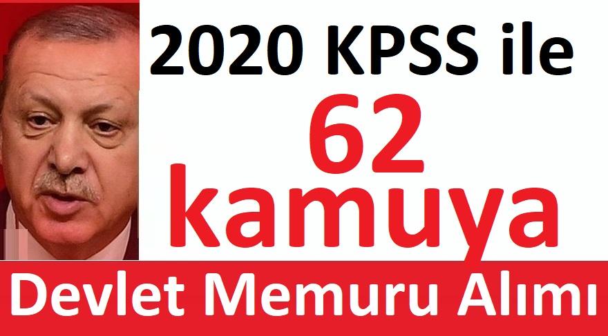 2020 KPSS ile 62 kamu personel alınacak